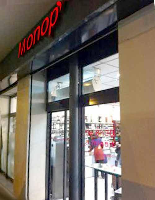 les magasins Monop'