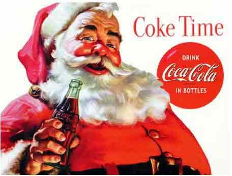 Le Père noël et Coca Cola