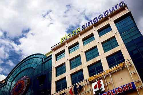 le centre commercial Plaza Singapura
