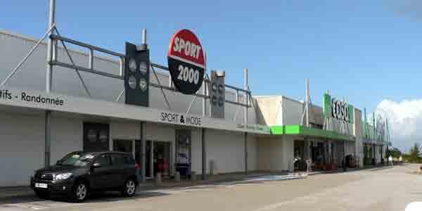 le centre commercial de Toubalan à Douarnenez