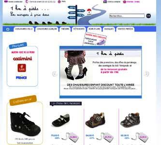 Entrer dans le site 1 km a pieds.com