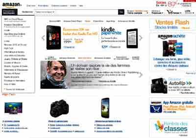 Entrer dans le site Amazone