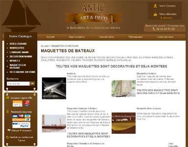 Entrer dans le site Antic Arts & Déco.com