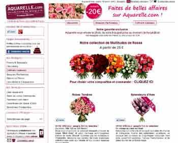 Entrer dans le site Aquarelle.com