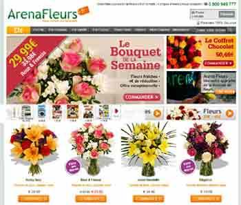 Entrer dans le site Arena Fleurs.com