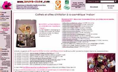 Entrer dans le site aroma-zone.com