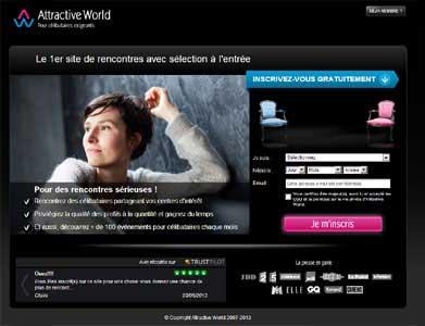 Entrer dans le site Attractive World.com