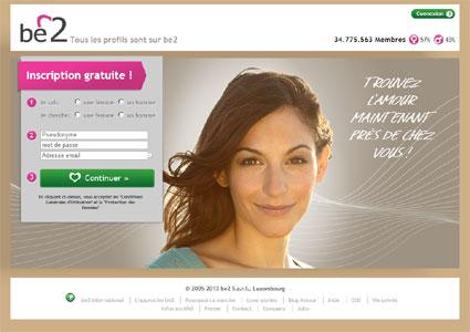 Entrer dans le site Be2.com