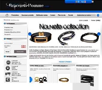 le site Bracelets Homme.com