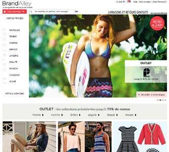 Entrer dans le site BrandAlley.fr