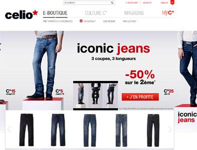 Entrer dans le site Celio*.com