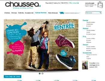 Entrer dans le site Chaussea.com