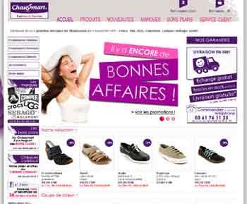 Entrer dans le site Chaussmart.com