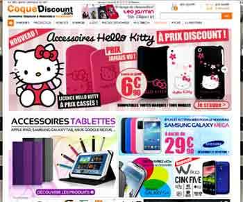 Entrer dans le site Coquediscount.com