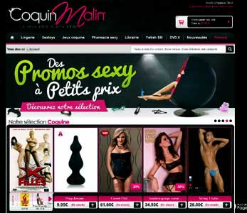 Entrer dans le site Coquin malin.com