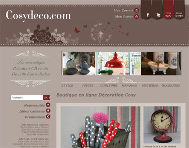 Entrer dans le site Cosy Déco.com