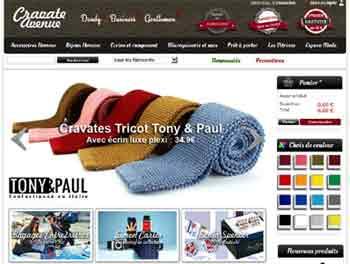 Entrer dans le site Cravate Avenue.com