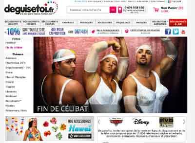 Entrer dans le site Déguise Toi.fr