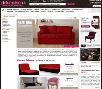 Entrer dans le site Delamaison.fr