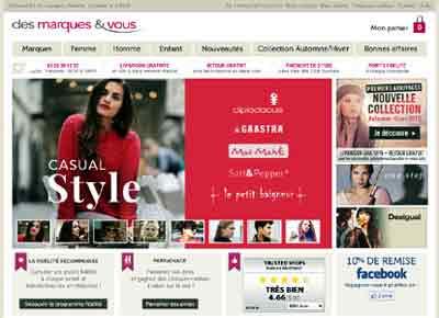 Entrer dans le site Des Marques et Vous.com