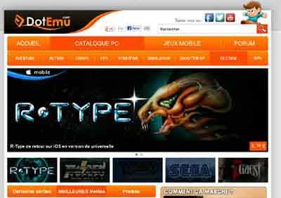 Entrer dans le site DotEmu.com
