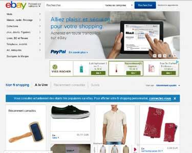 Entrer dans le site Ebay.com