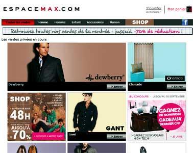 Entrer dans le site Espace Max.com