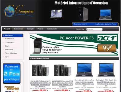 Entrer dans le site Flash Computer.com