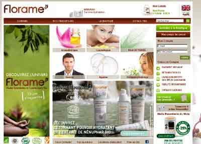 Entrer dans le site Florame.com