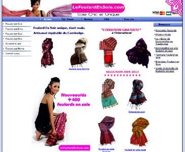 Entrer dans le site le foulard en soie.com