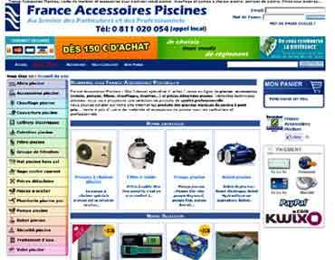 Entrer dans le site France Accessoires Piscines.fr