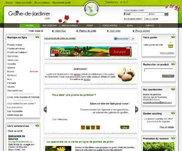Entrer dans le site Graine de Jardinier.com