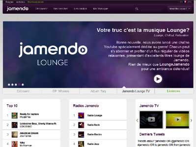 Entrer dans le site Jamendo.com