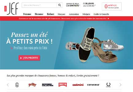 Entrer dans le site Jef Chaussures.com