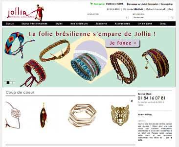 le site Jollia.fr