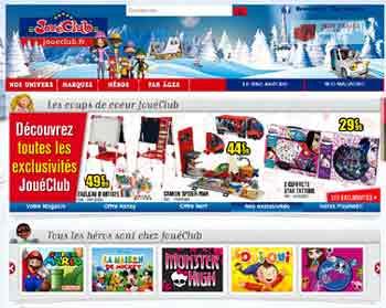 Entrer dans le site joué club.fr