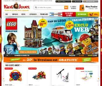 Entrer dans le site King Jouet.com