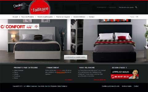 Les magasins en ligne de destockage et de discount for Faillitaire meuble