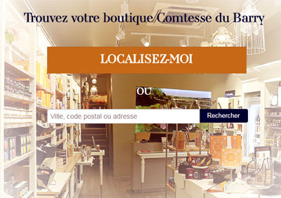 Trouver un magasin Comtesse du Barry