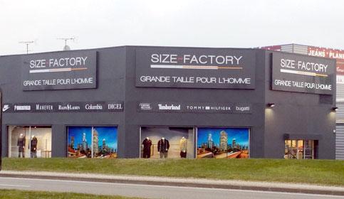 les magasins Size Factory en France