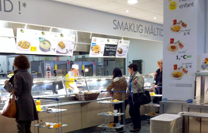 Les cafétérias des magasins Ikea
