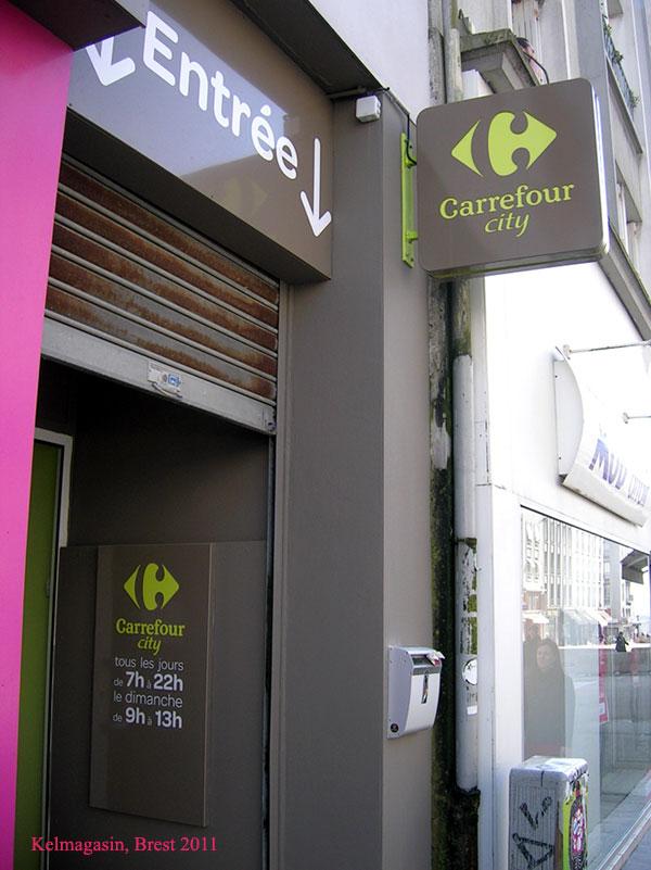 Les magasins Carrefour City de Brest
