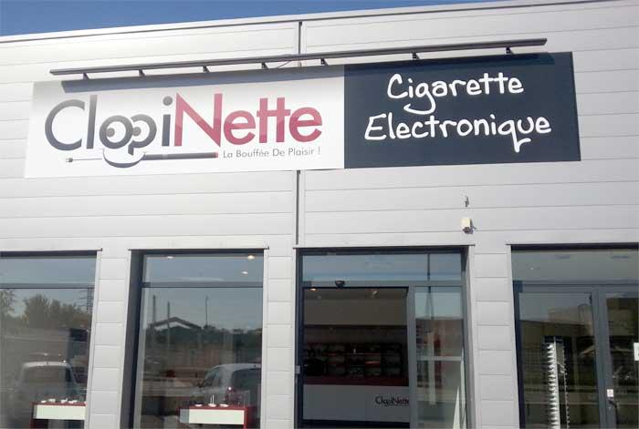 Clopinette, un magasin de cigarettes électroniques et d'accessoires