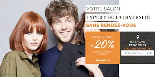 trouver un salon de coiffure Fabio Salsa