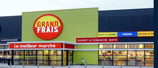 Localiser un magasin Grand Frais