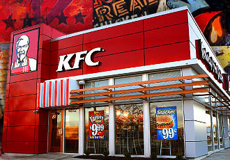 les restaurants Kentucky Fried Chicken