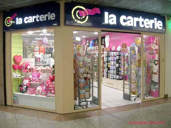 Les magasins La Carterie