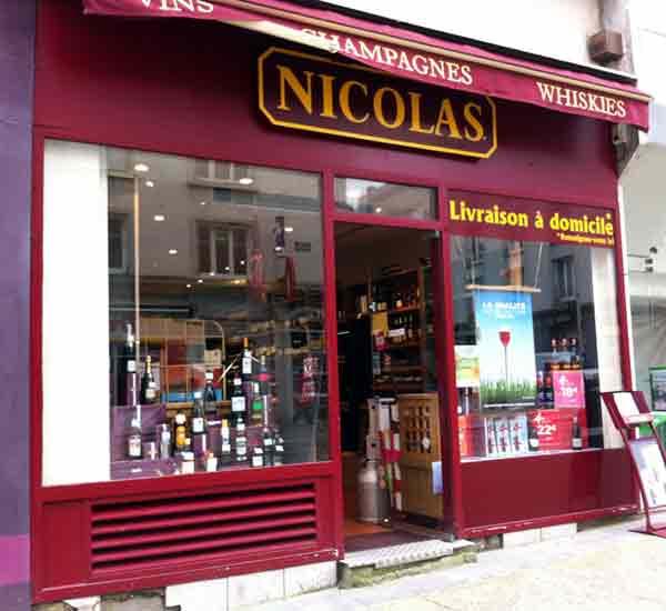 le magasin Nicolas