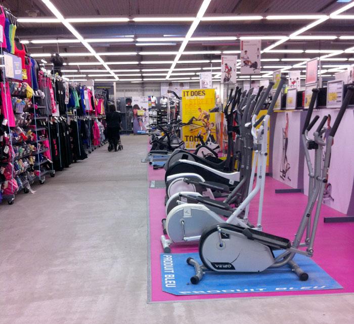 Les magasins d'un seul et même sport en France