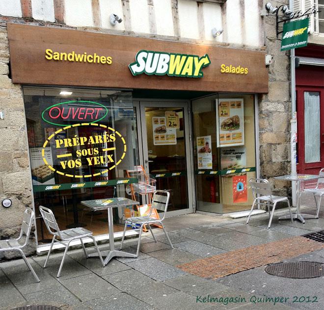 les magasins de sandwichs Subway
